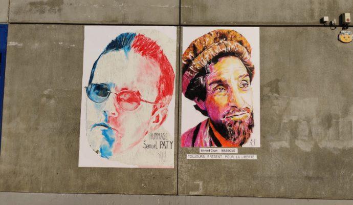 Aux côtés de Samuel Paty, le street-artiste angevin AL1 rend hommage au commandant Massoud