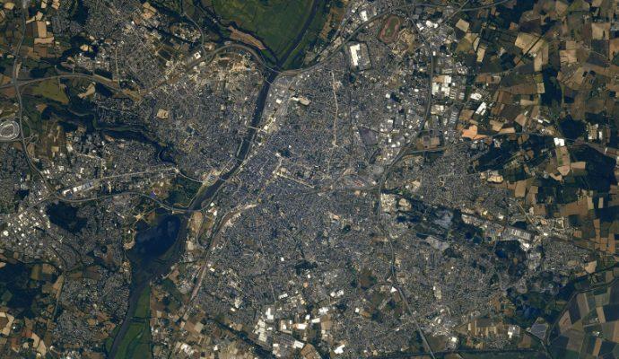L'astronaute Thomas Pesquet photographie Angers depuis l'espace