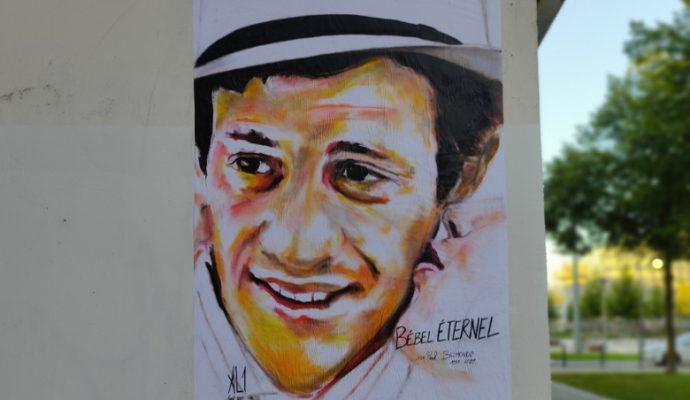 L'hommage du street-artiste angevin AL1 à Jean-Paul Belmondo